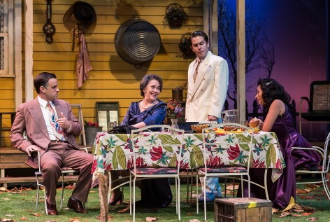 "A moment of gentle humor in a suitably tense ""All My Sons"", Arthur Miller's great morality play, at A Noise Within [photo: Craig Schwartz]"