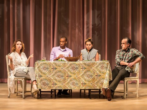 "L-R: Sharon Lawrence, York Walker, Mae Whitman and David Pittu in ""The Mystery of Love and Sex  [Photo: Craig Schwartz]"