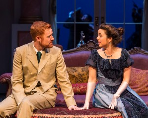 Kasey Mahaffy and Jill Renner as the reluctant lovers [photos: Craig Schwartz]