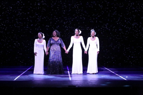 "Brittney Johnson, Moya Angela, Jasmin Richardson and Danielle Truitt as the reunited Dreams in ""Dreamgirls"" in La Mirada"