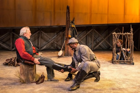 "L-R: Michael McKean, Sterling K. Brown and Josh Wingate in ""Father Comes Home From The Wars (Parts 1, 2 & 3)""  [Photo: Craig Schwartz]."