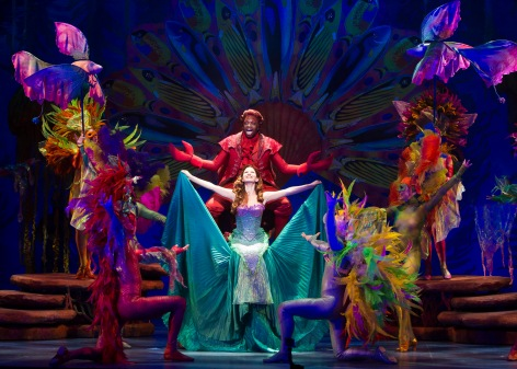 "Alison Woods as Ariel leads the cast of ""The Little Mermaid"", part of the McCoy Rigby Entertainment Series at La Mirada [photo: courtesy of Bruce Bennett, Theatre Under the Stars]"