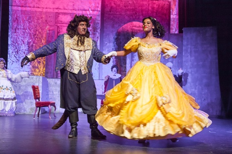 "Gabriel Borjon and Lencia Kebede waltz in ""Beauty and the Beast"" [photo: Avis Photography]"