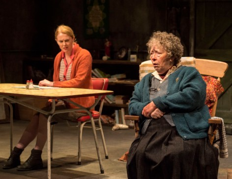 "Aisling O'Sullivan and Marie Mullen in the Druid production of ""The Beauty Queen of Leenane"" by Martin McDonagh, directed by Garry Hynes. [Photo: Craig Schwartz]"