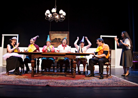 "The cast of ""The Dining Room"" at Whittier Community Theatre illustrates one use for that iconic part of the house. [Photo: Avis Photography]"