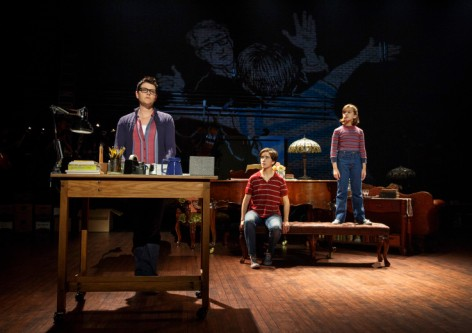 "The three Alisons, Kate Shindle, Abby Corrigan and Alessandra Baldacchino in ""Fun Home"" at the Ahmanson [Photo: Joan Marcus]"