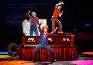 "Alessandra Baldacchino, Pierson Salvador, and Lennon Nate Hammond in one of the funniest moments from ""Fun Home"" [photo: Joan Marcus]"