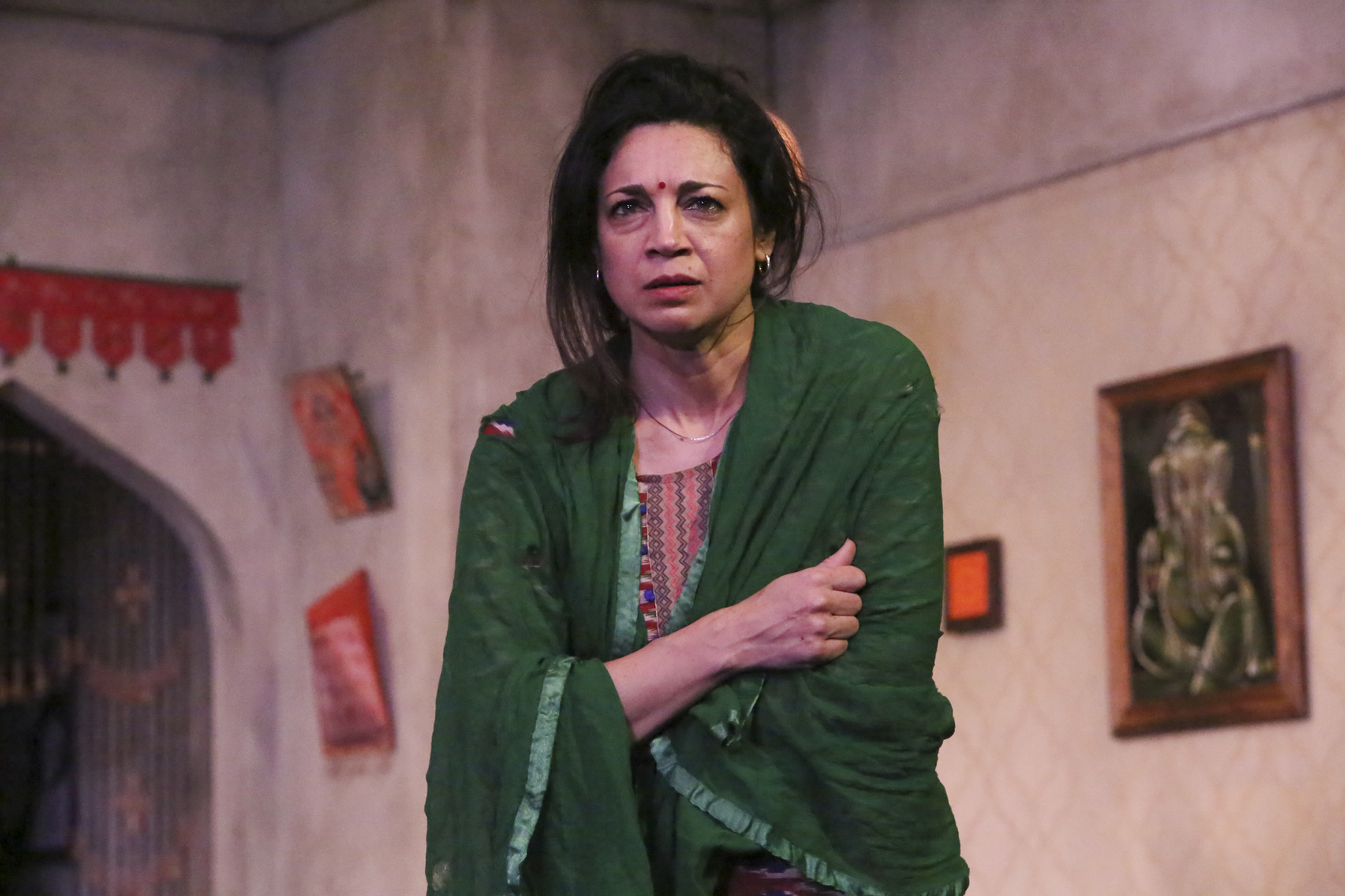 """Anna Khaja as the desperate mother so central to """"Free Outgoing"""" and its examination of media and cultural norms in modern India"""