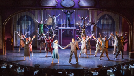 """Listen to the Lullaby of Old Broadway"" at Candlelight Pavilion's ""42nd Street"" [photo:  Demetrios Katsantonis]"